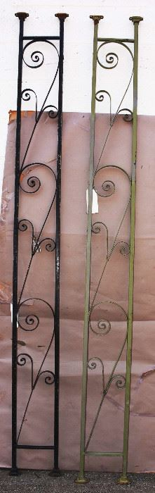 Two Wrought Iron Supports