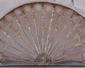 French Colonial 19th Century Iron Transom
