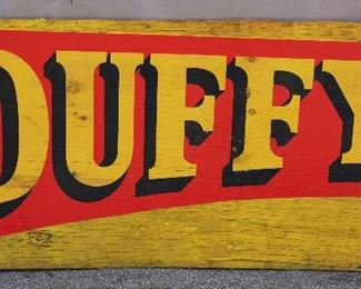 """Duffy"" Crane Wooden Sign"
