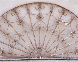 French Colonial Wrought Iron Transom