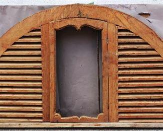 Antique Teakwood Arched Window