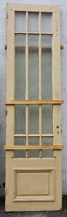 Two Antique Framed Wood Single Doors