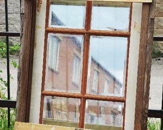 Antique Wood Single Windows