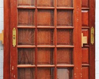 Two Antique Mahogany Sliding Doors