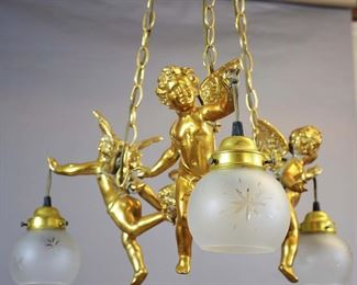 French Louis XV Style Bronze Patina Chandelier