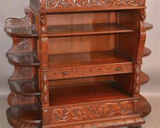 Unusual Turn of the Century Cherrywood style Cabinet