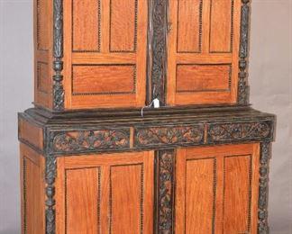 Indo-Portuguese Satinwood & Ebony Cupboard