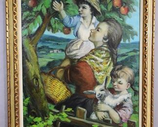 Apple Tree Oil on Canvas by Fanganelli
