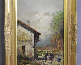 Landscape Oil on Canvas by Luetti