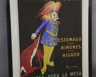 """Aqua De Vilajuiga 9"""" Original Vintage Poster"""