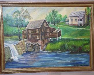 Landscape of George Carmichael Oil on Canvas