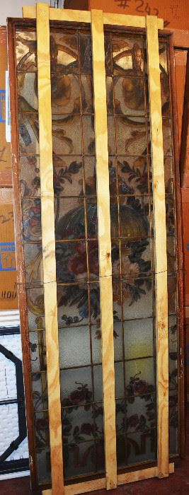 French Louis XV Stain Glass Window
