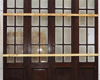 Set of 4 French Walnut Folding Doors