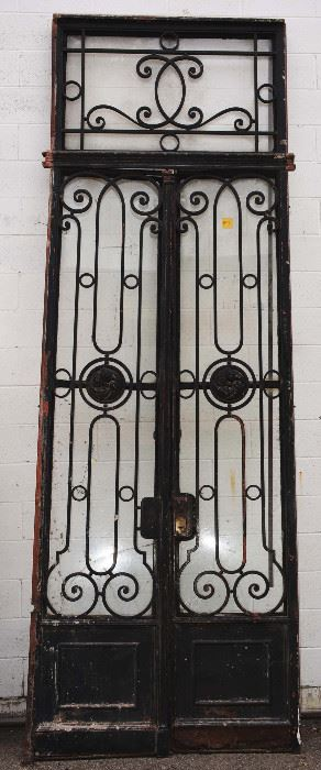 French Louis XIV Style Wrought Iron Entry Door