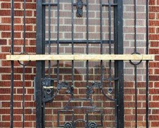 French Louis XVI Style Single Iron Entry Door