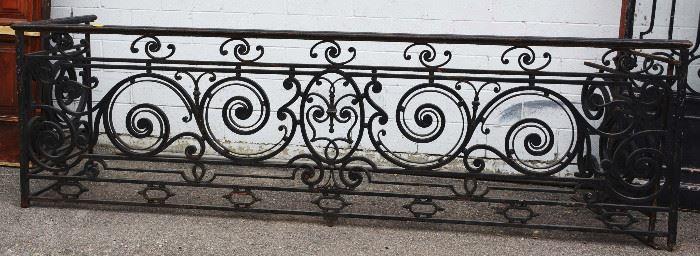 French Louis XV Style Fancy Wrought Iron Balcony