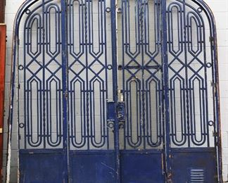French art Deco Style Wrought Iron Gate