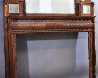 Asthetic Movement Cherrywood Fireplace Mantel