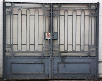Pair of Art Deco Style Wrought Iron Driveway Gates