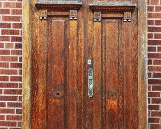 French Louis XVI Oak Wooden Entry Door
