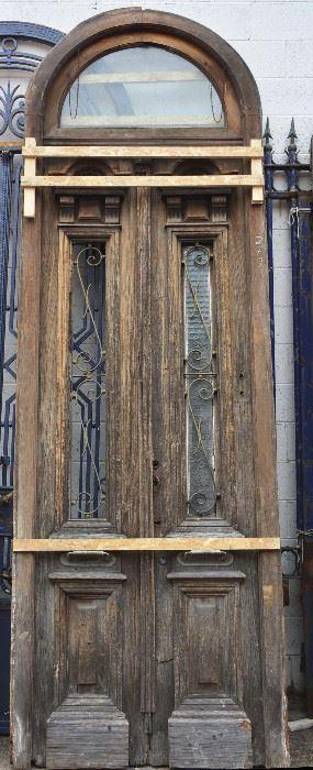 French Oak Entry Door & Transom