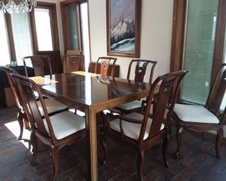001 Drexel Asian Style Dining Room Set