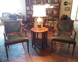 Leather Chairs Hickory Chair Inc. and Lamp