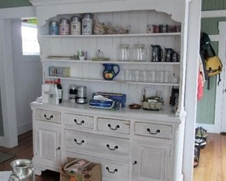 Waterbury CT company design - Cottage Chic Large White Washed Style Breakfront.  Quality piece.