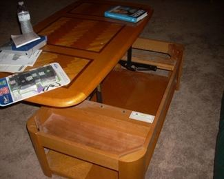 Adjustable Coffee Table (shown up)