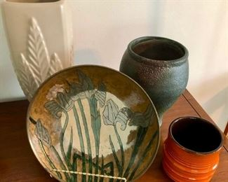 Pretty vintage pottery and decor.