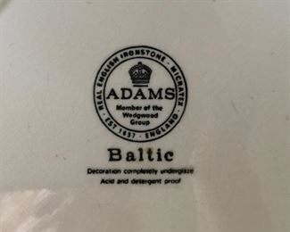 Adams Baltic English Ironstone dinnerware