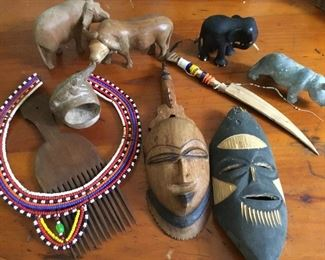 Vintage African collectibles from a trip to Africa in the mid 1970's