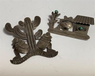 Mexican Taxco sterling pins