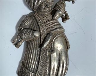Vintage sterling Thief of Korda brooch