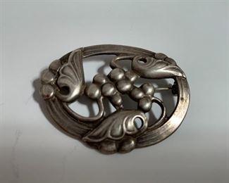 Vintage sterling Coro brooch