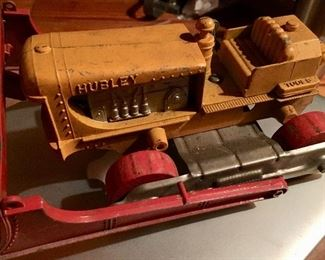 Vintage Hubley bulldozer tractor cast iron toy