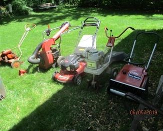 and selection of yard items