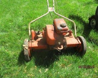 vintage propelled rotary mower