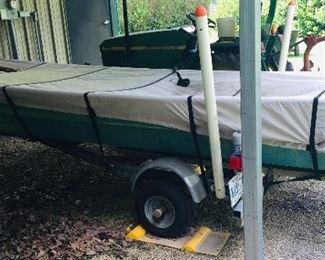 14 foot Duracraft aluminum flat bottom boat