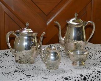 Sterling Silver Paul Revere Reproduction tea and coffee set