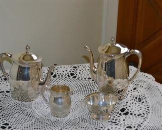 European Silver tea, and coffee set