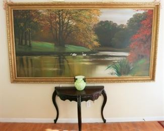 Large wall size (4' x 8') vintage 1959 signed painting by Bard, which hung in the Detroit Institute of Art for years!