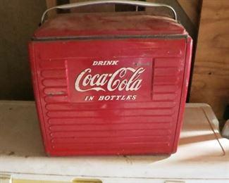 Vintage Coca-Cola handled cooler