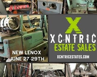 Xcntric Estate Sales : Machine Shop loaded with tools!