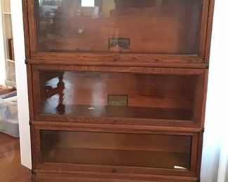 One of four barrister stacking bookcases.   original tags Globe Warnke