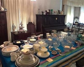 Glassware, Ceramic ware, Microwaves,  Punch Bowl