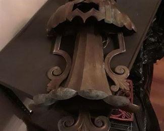 Vintage Brass Exterior Light Fixture