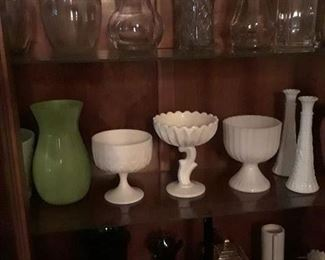 Glass Vases and Ceramic Ware