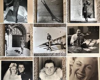 Sample of vintage photos, including her modeling days and military photos