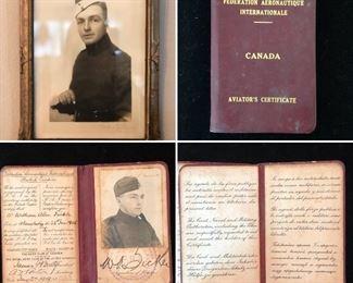 WW1 aviators certificate